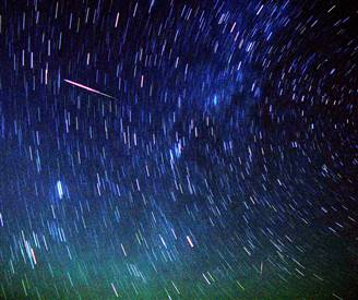 Meteor Shower Video on YouTube
