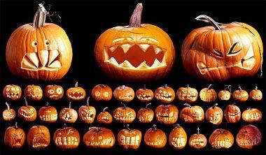 Ansigter græskar Halloween digte
