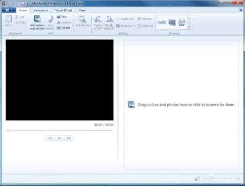 How to change windows live movie maker to timeline