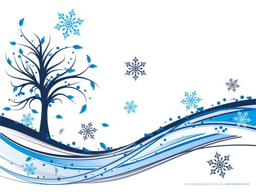Wallpaper-blue-swirls-tree-snowflake in Beautiful Christmas Pictures and Creative Christmas Designs