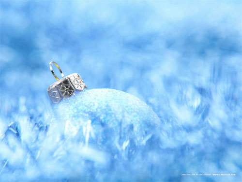 Wallpaper-christmas-ornament-blue in Beautiful Christmas Pictures and Creative Christmas Designs