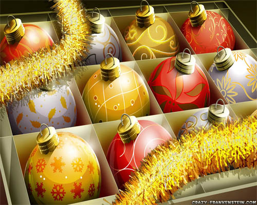 Wallpaper-christmas-ornaments-red-gold in Beautiful Christmas Pictures and Creative Christmas Designs