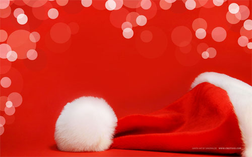 Wallpaper-red-santa-hat in Beautiful Christmas Pictures and Creative Christmas Designs