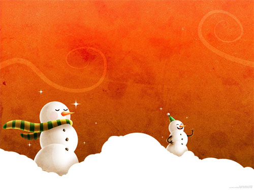 Wallpaper-snowman-christmas-4 in Beautiful Christmas Pictures and Creative Christmas Designs