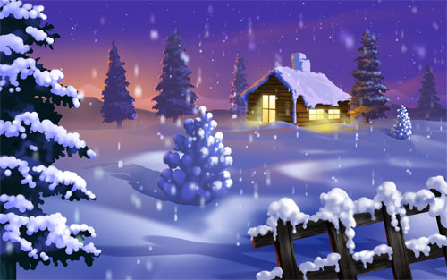 Wallpaper-winter-christmas-silent-night in Beautiful Christmas Pictures and Creative Christmas Designs