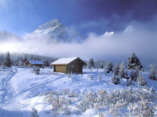 Wallpaper-winter-landscape-mountains-snow-3 in Beautiful Christmas Pictures and Creative Christmas Designs