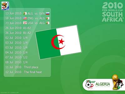 Algeria World Cup 2010 Wallpaper