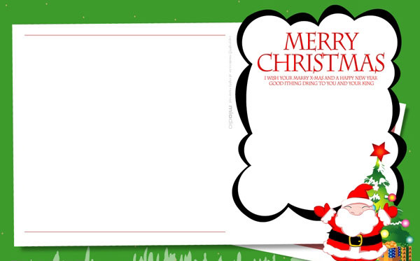 Variety Of Free Christmas Card Templates For You To DIY Christmas U2026