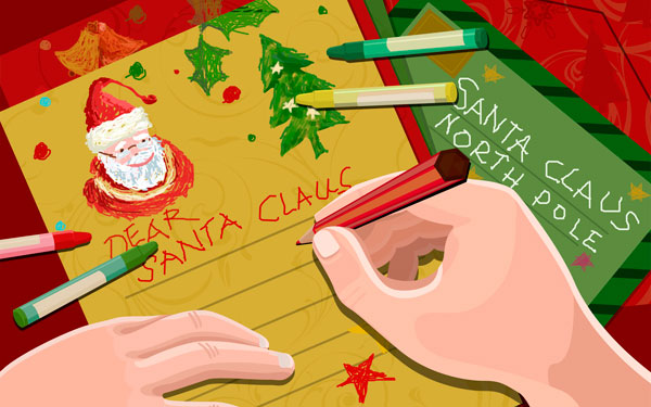 A christmas letter to santa claus asking for a special christmas with spiritdancerdesigns Images