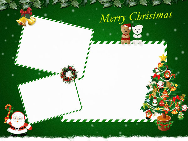 Christmas Card Templates - Christmas greeting card template