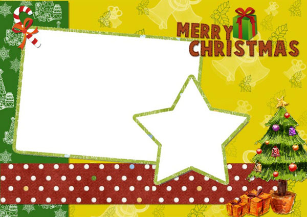 A Variety Of Free Christmas Card Templates For You To DIY Christmas - Christmas postcard template