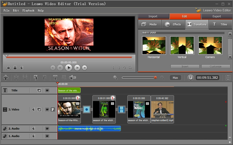 Leawo Video Editor: Help Create Free Online Movies with Your Own ...