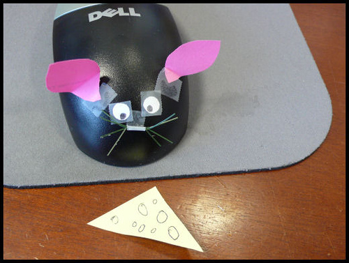 Mouse office prank