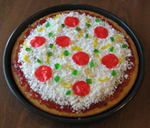 pizza cake for April Fool's Day