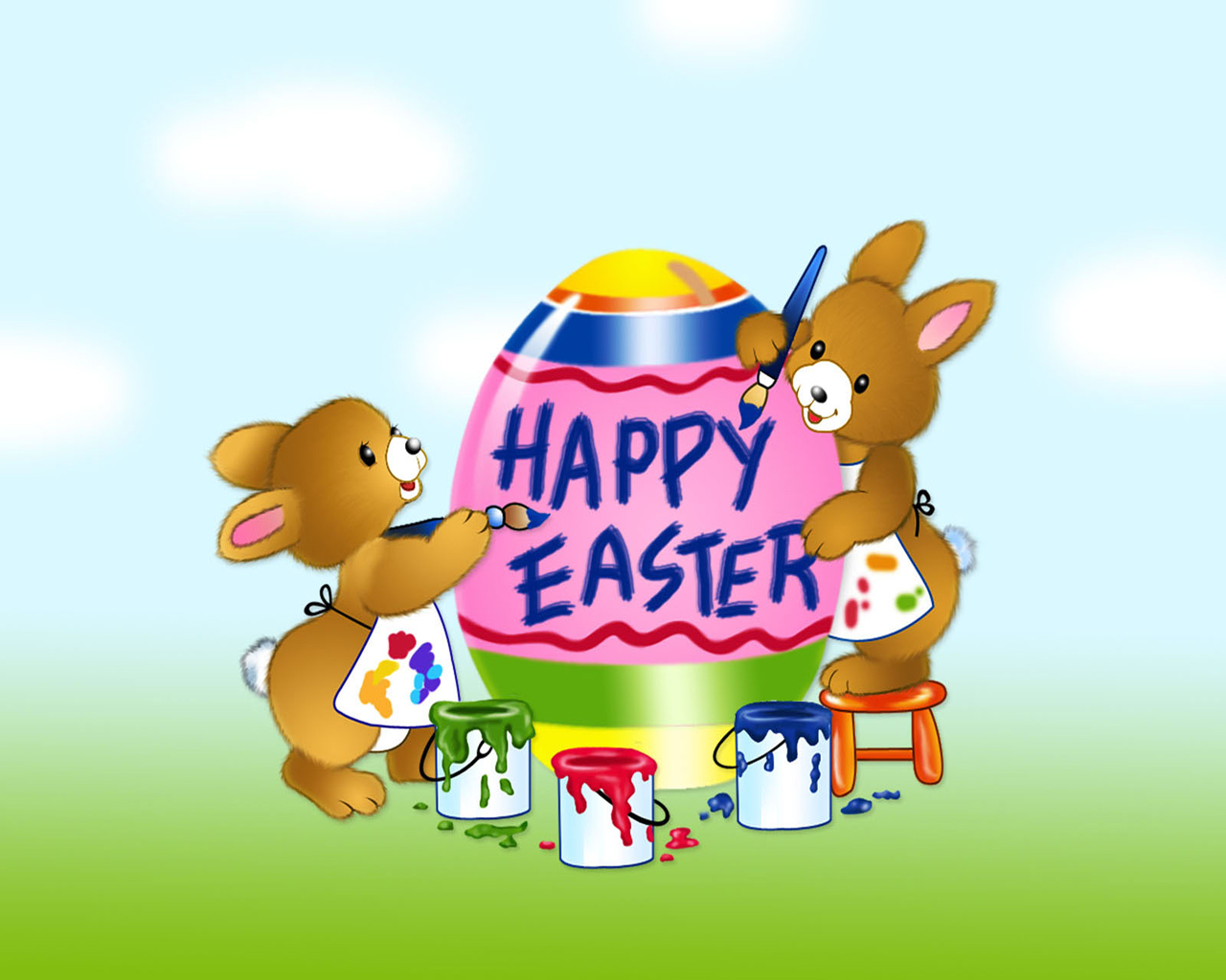 Happy Easter Painting