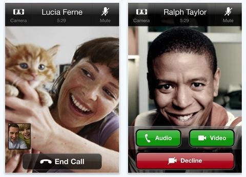 iPhone Skype call