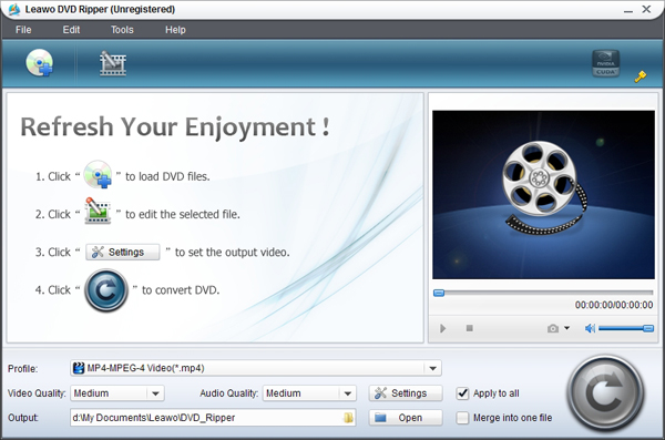 Leawo DVD Ripper 4.0.0.0