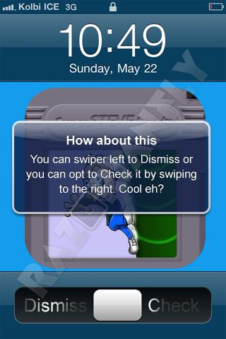 Bidirectional slider concept notification