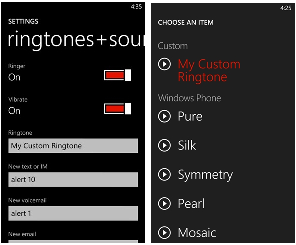Custom Ringtone