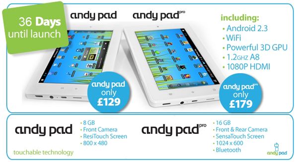 Android Andy Pad specs