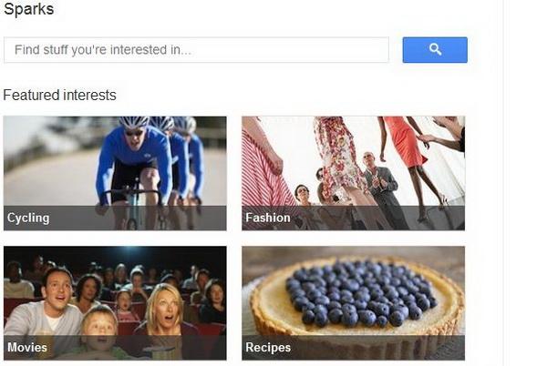 Google+ Sparks