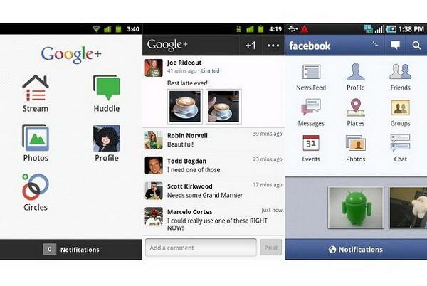 Google+ VS. Facebook mobile