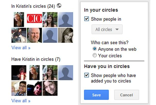 Manage How Others See Your Circles