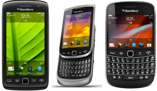 RIM revealed 5 new BlackBerry smart mobile phones featuring