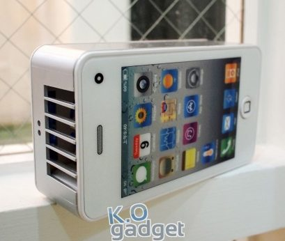 "White ""iPhone 4″ Air Cooler"