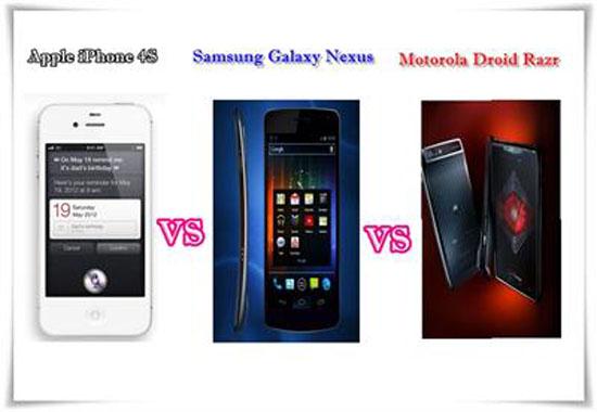 iPhone 4S vs. Galaxy Nexus vs. Droid R
