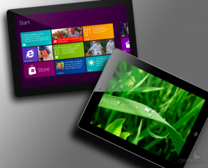 iPad Windows 8 tab