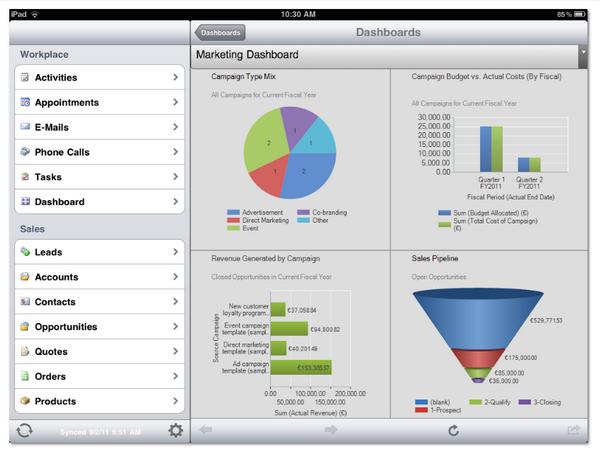 CRM iPad Dynamics