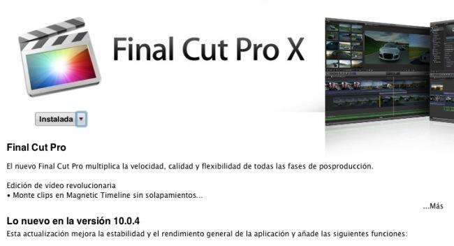 Final Cut Pro X 10.0.4