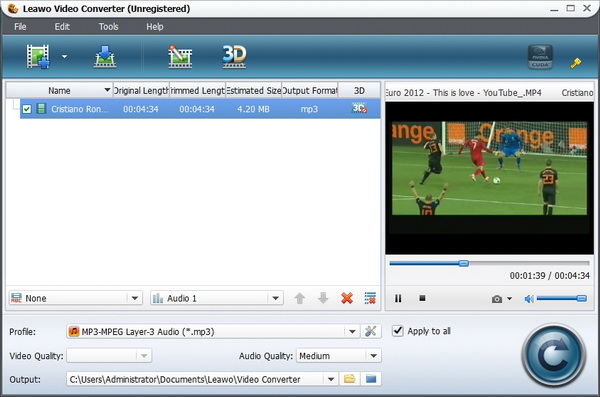 Convert Euro 2012 video to iPad