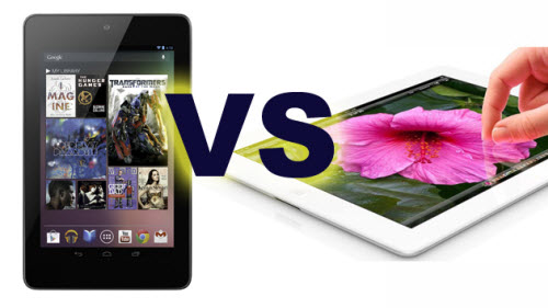 Google Nexus 7 Vs Apple New iPad