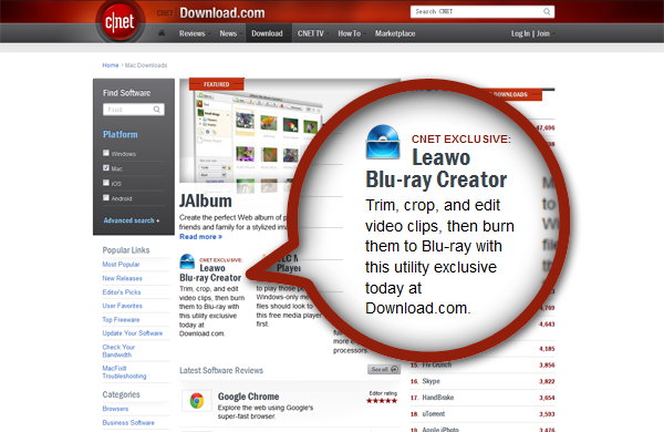 Leawo Blu-ray Creator for Mac - CNET-exclusive premiere