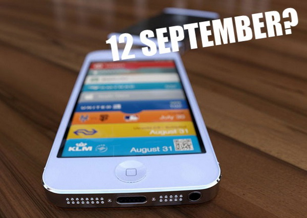 iPhone 5 on Sep. 12th Event
