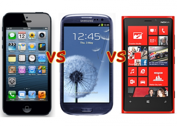 iPhone 5 vs. Galaxy S 3 vs. Nokia Lumia 920