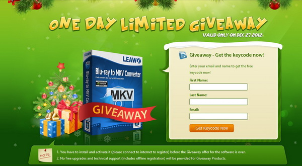 One Day Limited Free Giveaway Gift from Leawo and GOTD to