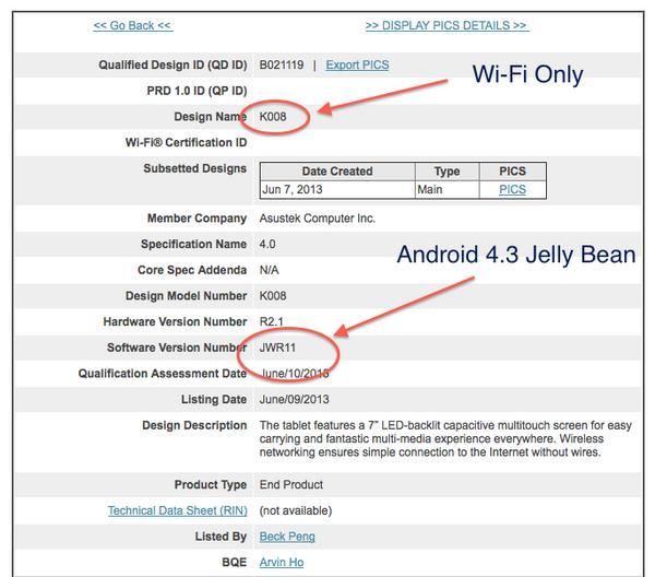 next Nexus 7 tablet details