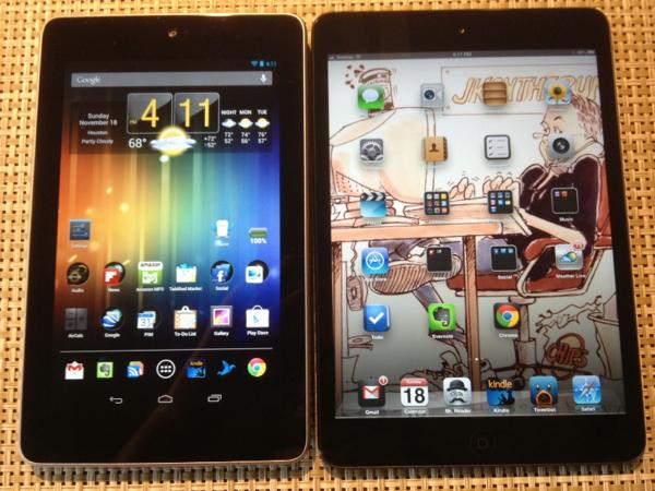 Nexus 7 vs. iPad mini