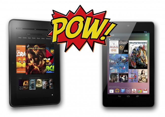 New Nexus 7 vs Kindle Fire HD