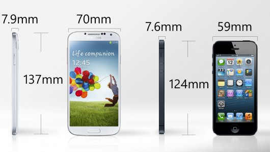 iPhone 5 Vs Samsung Galaxy S4