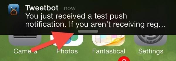 notification drop-down