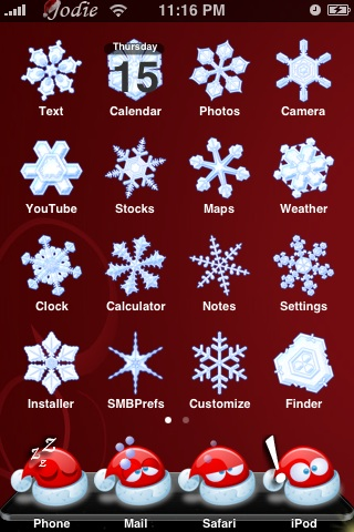 Christmas iPhone Themes