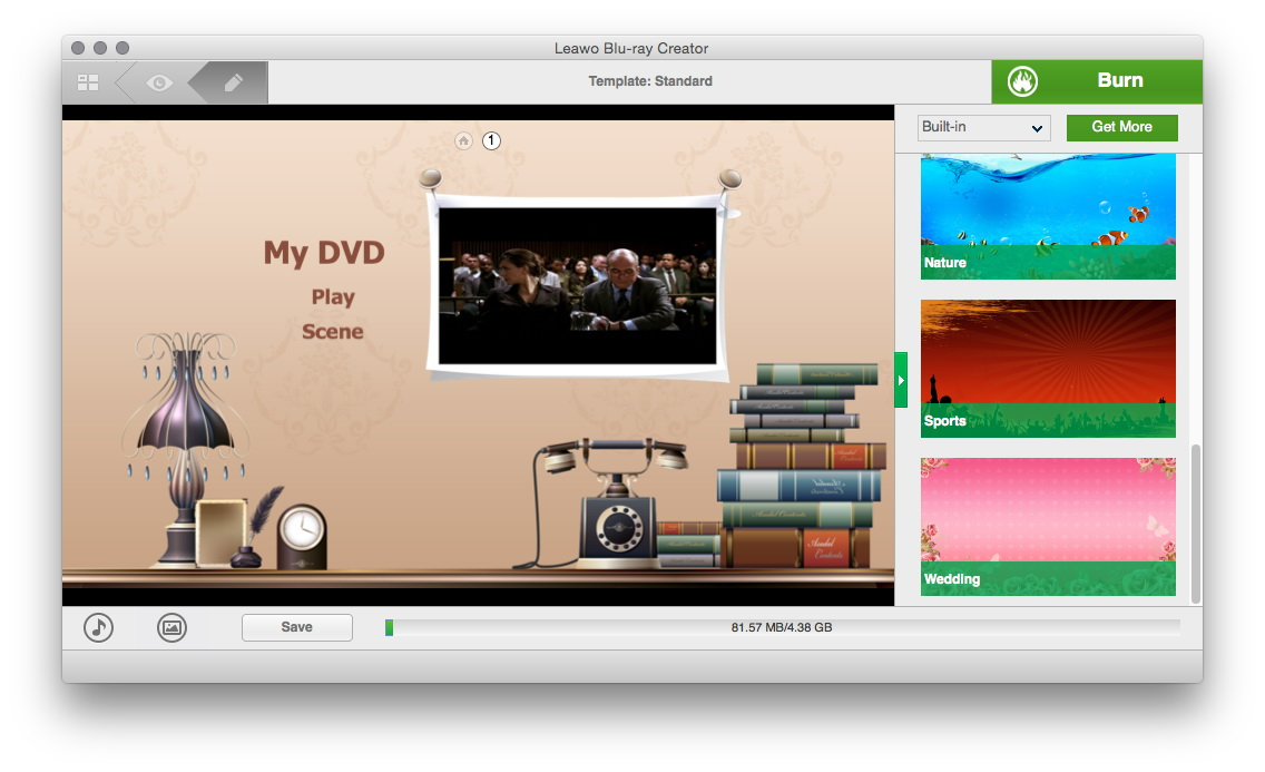 How To Take A Screenshot On A Mac To Add The Background Music To The Disc,  You Just Need To Click The Music