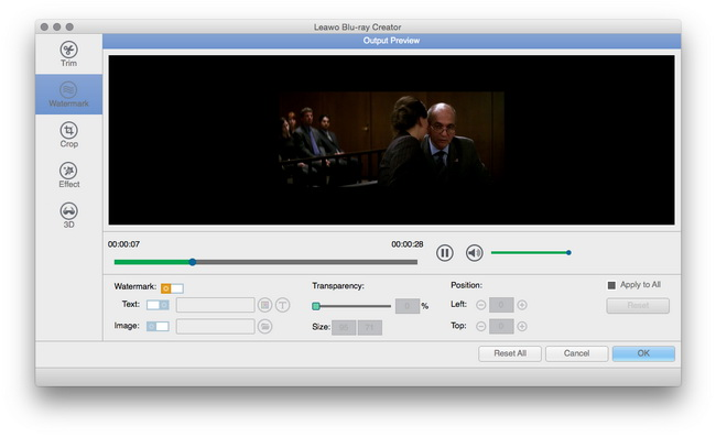 how to add a watermstk o video