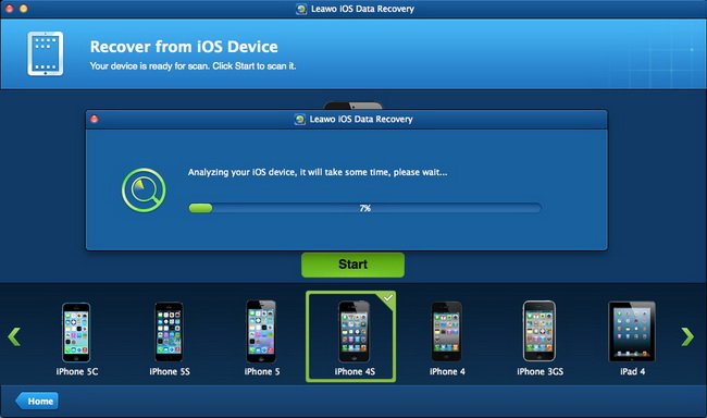 Selecione um backup do iTunes para fazer a varredura