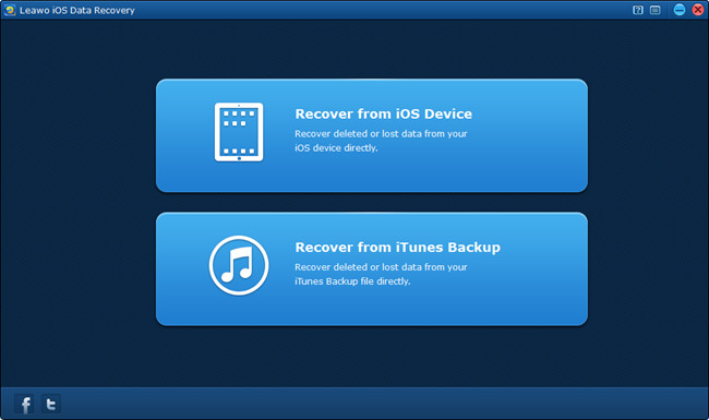 Select Recover from iTunes backup mode