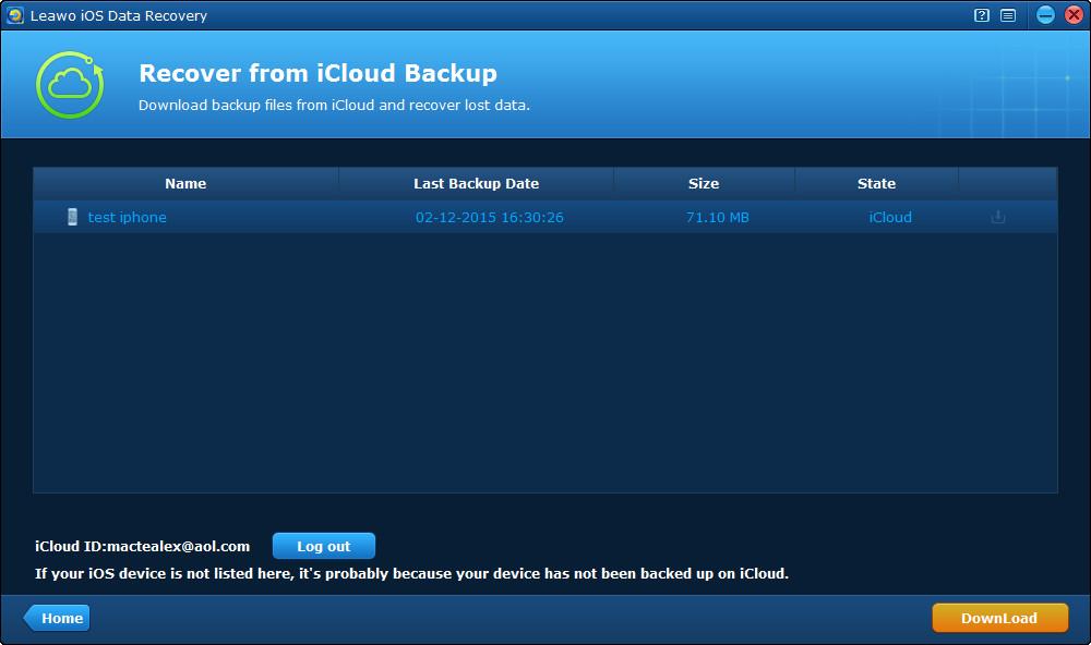 Icloud backup keyboard data format